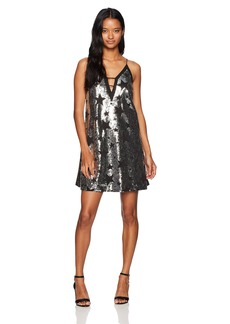 XOXO Women's Star Sequin a-Line Slip Dress