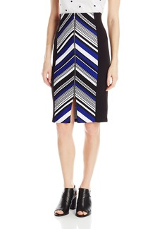 XOXO Women's Stripe Jacquard Pencil Skirt