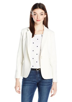 XOXO Women's Textured Boyfriend Jacket with Pocket Flaps