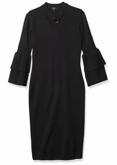 XOXO Women's Tiered Bell Sleeve Dress