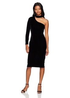 XOXO Women's Velvet One Shoulder Bodycon Dress