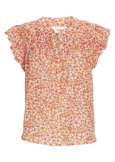 Xírena Bria Floral Silk-Cotton Blouse