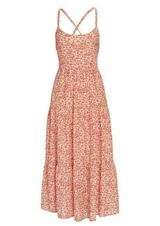 Xírena Owynn Floral Gauze Midi Dress