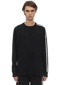 Y-3 3 Stripe Cotton Sweatshirt