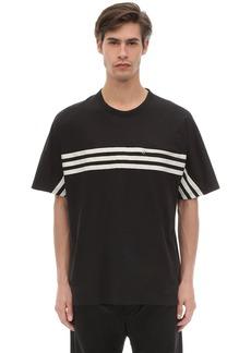 Y-3 3 Stripe Packable Cotton Jersey T-shirt