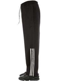 Y-3 3 Stripe Wide Leg Wool Blend Pants