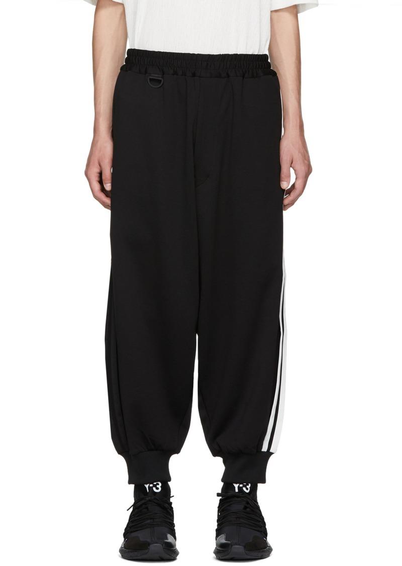 55101f134 Y-3 Black 3-Stripe Track Pants