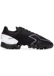 Y-3 black ekika stitch detail sneakers