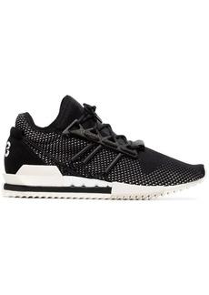 Y-3 black Harigane leather sneakers
