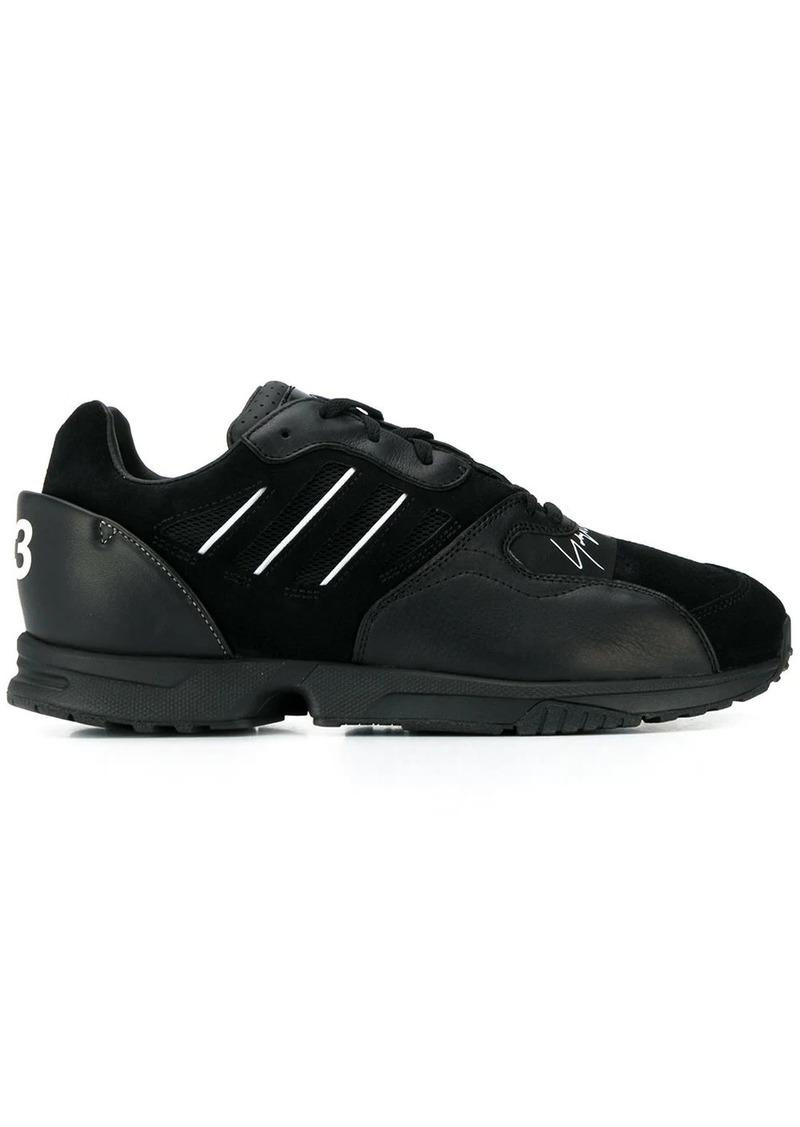Y-3 contrast textured mesh sneakers