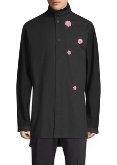 Y-3 Cotton Flower Button-Down Shirt