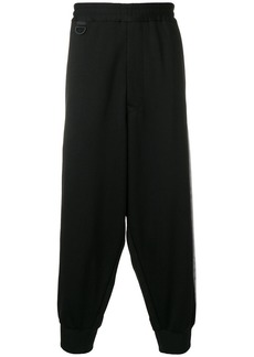 Y-3 dropped-crotch track pants