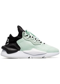 Y-3 green and black kaiwa leather sneakers