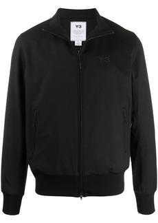 Y-3 high collar logo embroidered jacket
