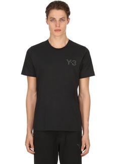 Y-3 Logo Detail Cotton Jersey T-shirt