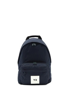 Y-3 logo-patch zipped backpack
