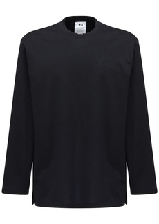 Y-3 Logo Print Cotton Jersey T-shirt