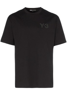 Y-3 logo print short-sleeved cotton T-shirt