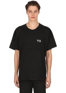 Y-3 Logo Signature Cotton Jersey T-shirt