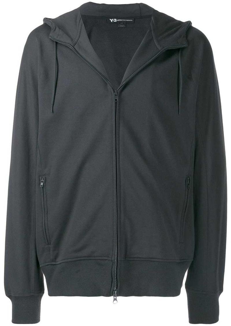 Y-3 logo zipped hoodie