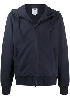 Y-3 long sleeve zip logo hoodie