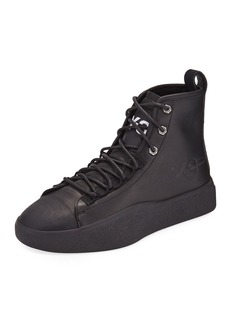 Y-3 Men's Bashyo Leather High-Top Sneakers