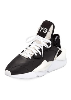 Y-3 Men's Kaiwa Leather Running Sneakers