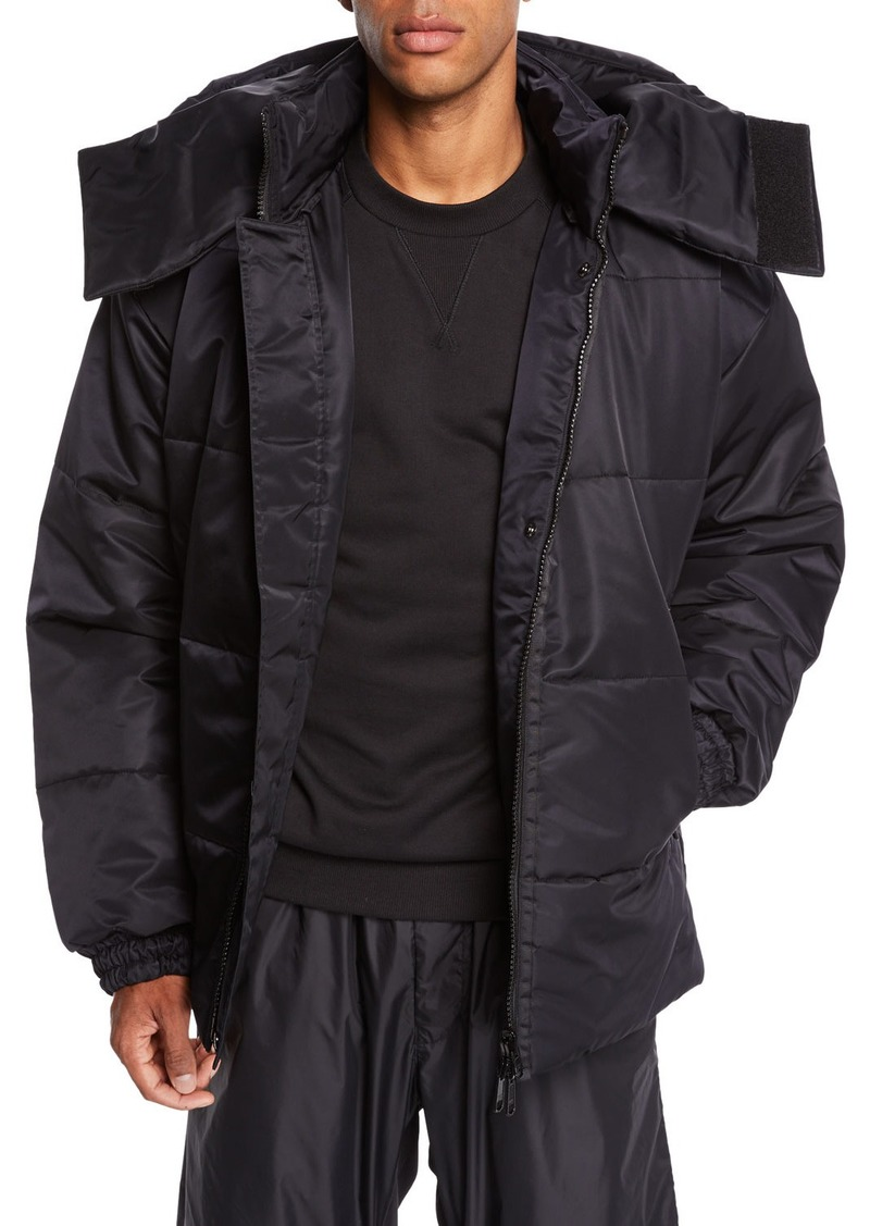 Y-3 Men's Padded Coat with Removable Hoodie