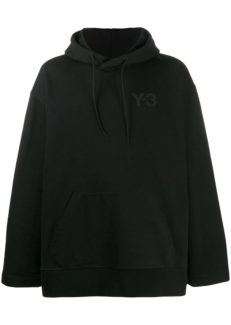 Y-3 oversized chest logo hoodie