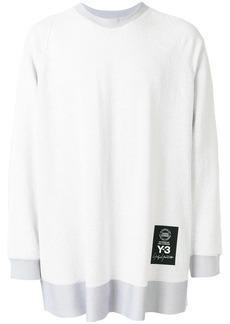 Y-3 oversized textured sweatshirt