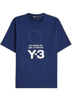 Y-3 Printed Cotton T-Shirt