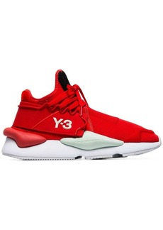 Y-3 red Kaiwa striped low-top sneakers