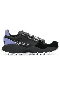 Y-3 signature-logo low-top trainers