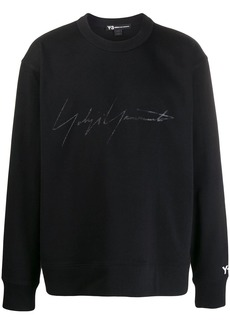 Y-3 signature-print cotton sweatshirt