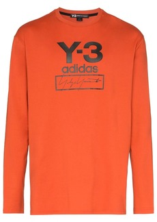 Y-3 stack logo long sleeve T-shirt