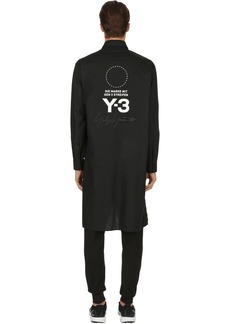 Y-3 Stacked Logo Cotton Long Shirt
