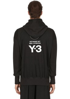 Y-3 Stacked Logo Cotton Sweatshirt Hoodie