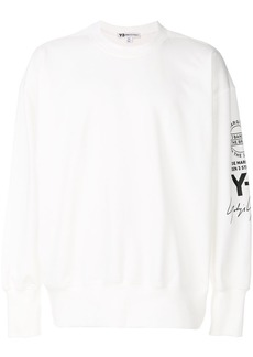 Y-3 stacked logo sweatshirt