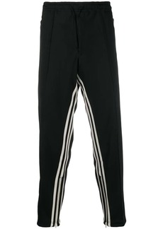 Y-3 striped track trousers
