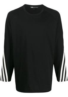 Y-3 tri-stripe printed longsleeved T-shirt