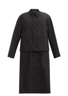 Y-3 Dorico detachable-hem shell raincoat
