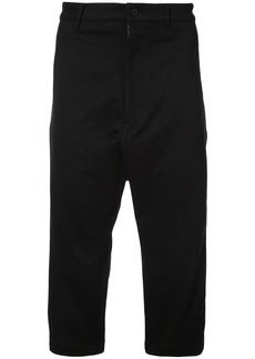 Y-3 drop-crotch cropped trousers