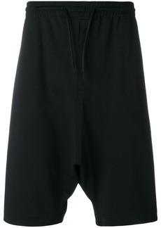 Y-3 drop-crotch track shorts