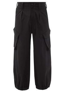 Y-3 Elasticated-cuff wool-blend cargo trousers