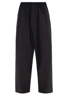 Y-3 Elasticated-waist wool-blend wide-leg trousers