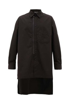 Y-3 Embroidered oversized organic-cotton shirt