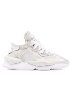 Y-3 Kaiwa thick-sole metallic-leather trainers