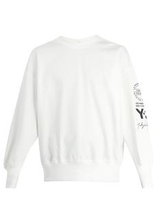 Y-3 Logo long-sleeved cotton-blend sweatshirt