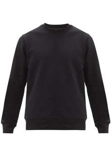 Y-3 Logo-patch cotton-jersey sweatshirt