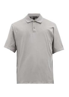 Y-3 Logo-patch organic-cotton polo shirt